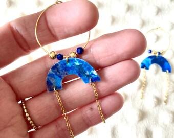 MULTIPLE COLORS - Creole earrings fabric