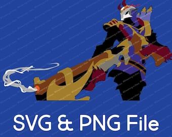 Bloodmoon Jhin League of Legends Vector SVG & Transparent PNG
