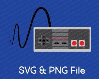 Classic NES Controller Vector SVG & Transparent PNG File