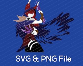 Xayah  League of Legends Vector SVG & Transparent PNG