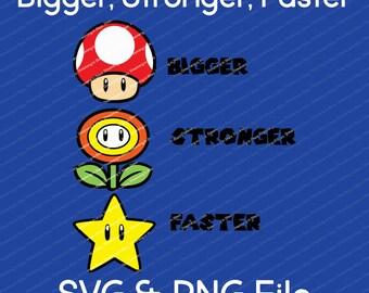 Bigger, Stronger, Faster Vector SVG & Transparent PNG File