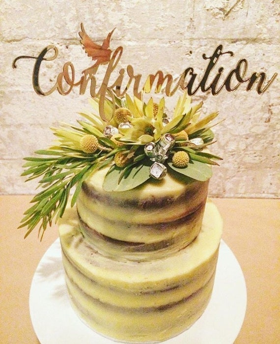 Confirmation cake topper with a dove   Etsy