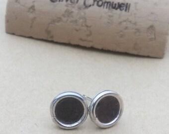 Cork stud earrings men, women includes backings