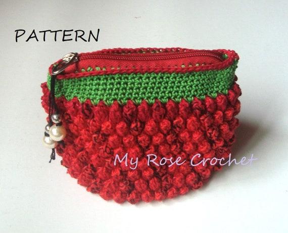 Crochet Bag Pattern Bubble Make Up Bag Pattern Crochet Small Etsy