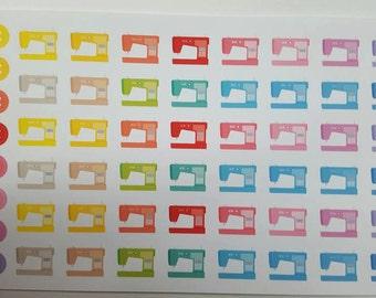 Sewing Stickers! 64 Stickers! Great for Erin Condren, Filofax, Kikki.K,  or Plum Paper Planners!