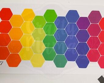 Hexagon Stickers! Great for Erin Condren, FiloFax, Kikki.K, or Plum Paper Planners (077)