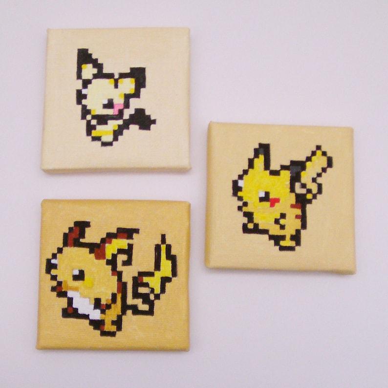 Mini Pikachu Evolution Pixel Art Painting Set