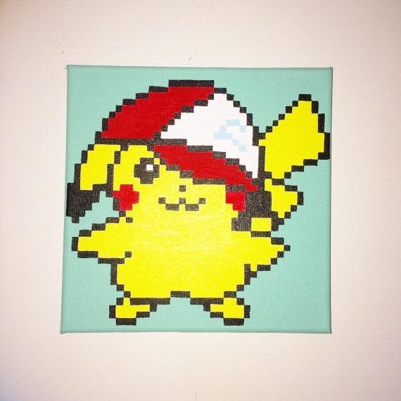 Pickach Peint Pixel Art