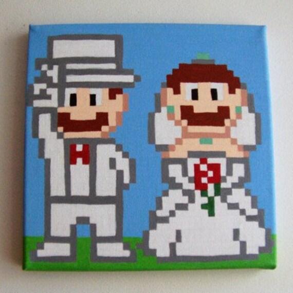 Mario Wedding Pixel Art