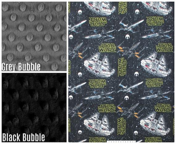 Throw in Grey Star Design with Grey Fleece Pram Blanket
