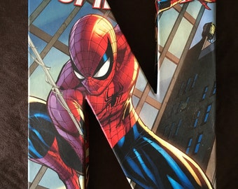 Spiderman Comic Book 3-D Letters