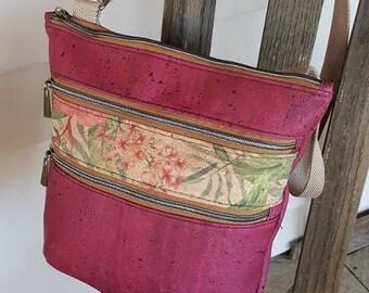 Cork Crossbody Bag, Cross Body Purse, Cork Purse, Wine Crossbody Bag, Wine Cork Purse, Wine Cork Crossbody Bag, Cork Shoulder Bag