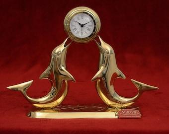 Bronze Clock Dolphin