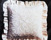 Candlewicking Charmin Janlynn Embroidery Pillow Kit - Damask Rhythm - Finished Size 14 quot x 14 quot - New Unopened Package
