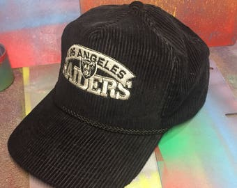 d09889719ae LOS ANGELES RAIDERS vintage corduroy snapback 1990s nfl Las Vegas nwa  straight outta compton eazy e ice cube dr dre la oakland throwback