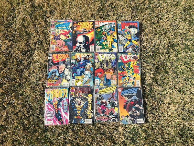 Lot of 76 Vintage 1990s Comic Books / MARVEL DC and more / x-men ghostrider  punisher captain america cable teenage mutant ninja turtles