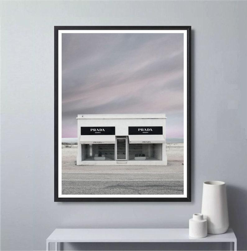 b7b045265509 Prada Marfa Texas Print Fashion Wall Art Prada Poster | Etsy