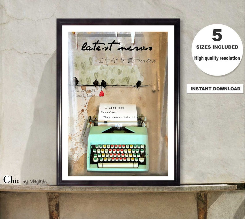 Colour Inspirational Quote Poster Art Print A3 A4 A5 Decor Gift Vogue
