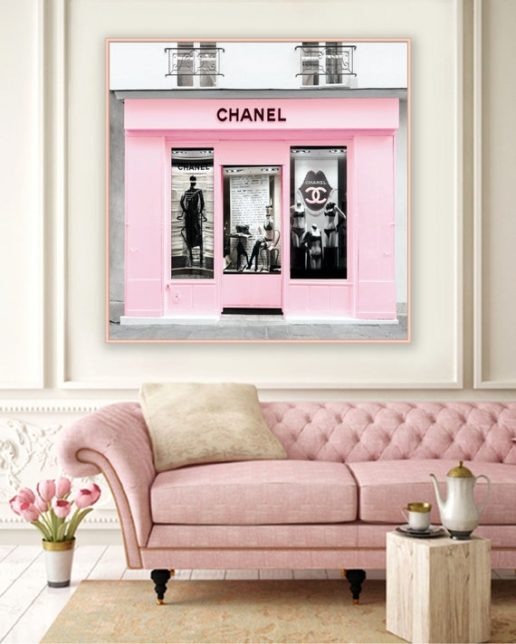 Chanel Boutique Poster Chanel Paris Store Fashion Wall Art Etsy