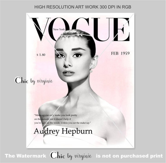 Vogue Posters Audrey Hepburn Print Set of 3 Fashion Wall