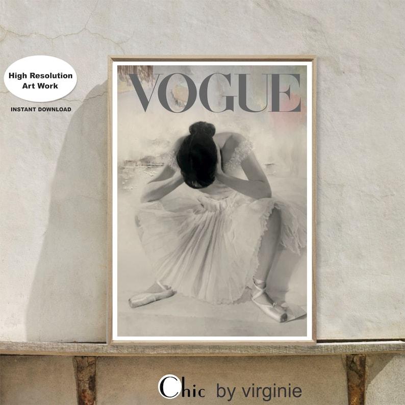 a5c8961f3bfd Vogue Poster Ballet Art Print Ballerina Wall Art Dancing | Etsy