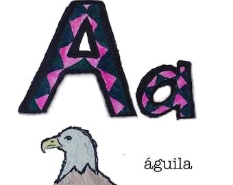 Printable Spanish Alphabet Flashcards