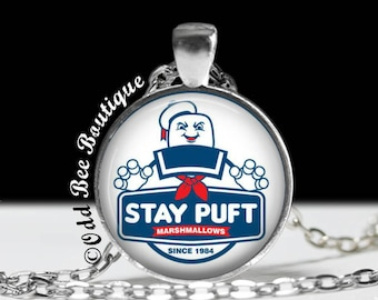 4e700d8624c2 Ghostbusters Necklace - Stay Puft Marshmallow Pendant - Classic Movie  Accessory - 80s Geekery - Who You Gonna Call Cult Gift - 1