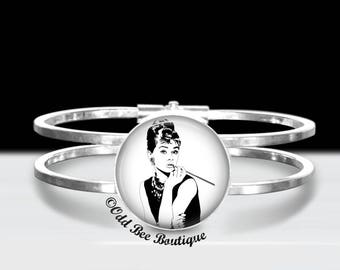 d2c4cf8fd Audrey Hepburn Bracelet - Rockabilly, Pin Up Accessory - Retro, Breakfast at  Tiffany's Movie Actress Gift - Cigarette Holder Jewelry