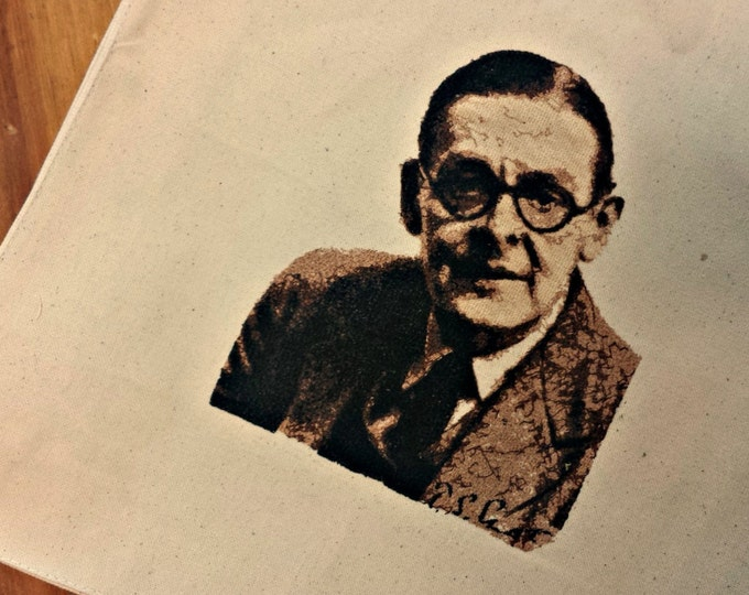 T.S. Eliot  Photo Embroidered Tote Bag