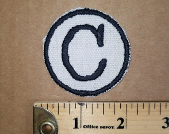 Embroidered C Iron On Monogram Patch
