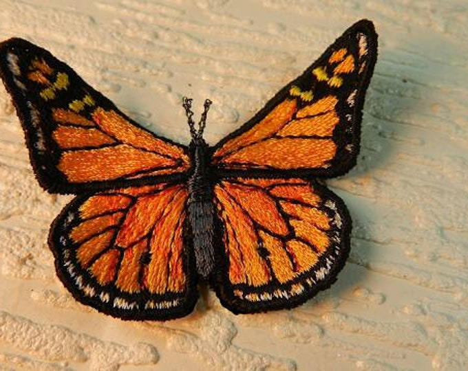 Embroidered Monarch Butterfly Pin