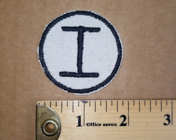 Embroidered Monogram I Patch Iron On