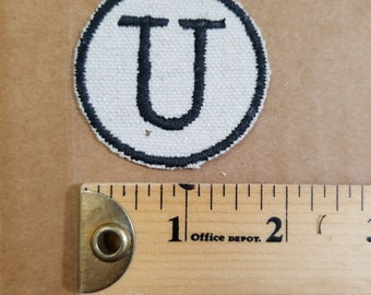 Embroidered U Monogram Iron On Patch