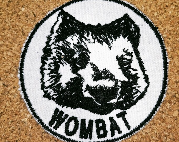 Embroidered Wombat Patch