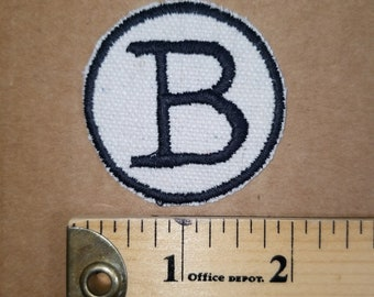 Iron On Embroidered Monogram Letter B Patch