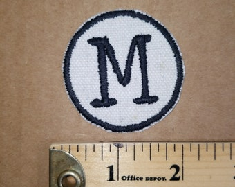 Embroidered M Monogram Patch
