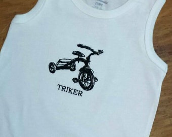 HandmadeEmbroidered Triker Toddler T-shirt