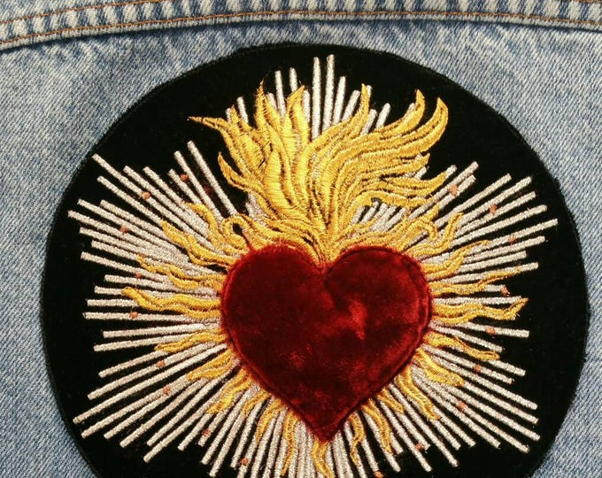 Velvet Heart Jacket Patch
