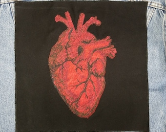 Embroidered Heart Back Patch