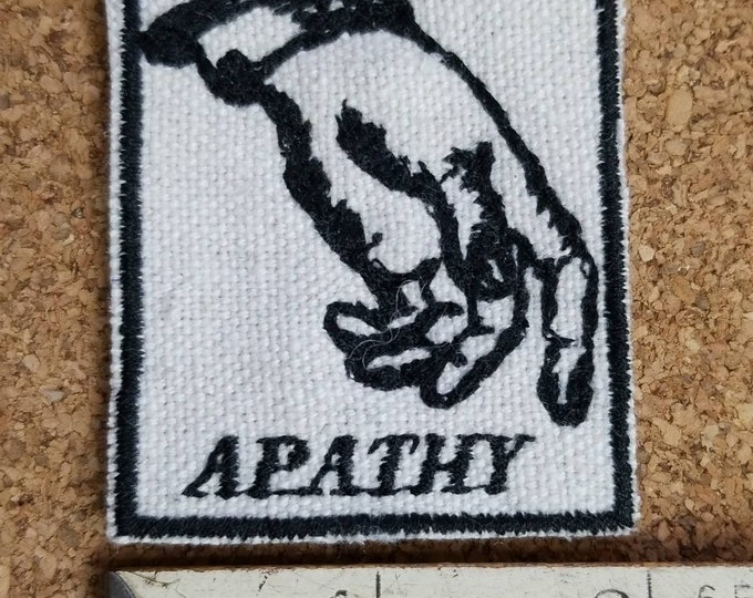 Handmade HandmadeEmbroidered Apathy Upcycled Canvas Iron On Jacket Patch