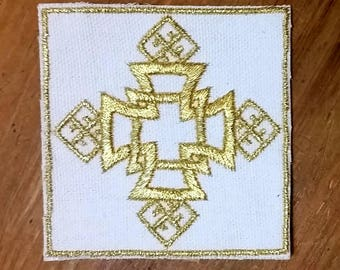HandmadeEmbroidered Ethiopian Cross Patch