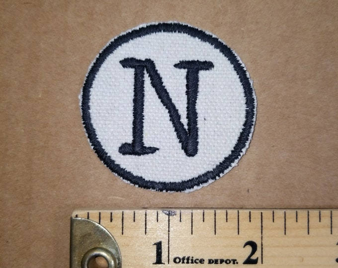 Embroidered M Monogram Iron On Patch