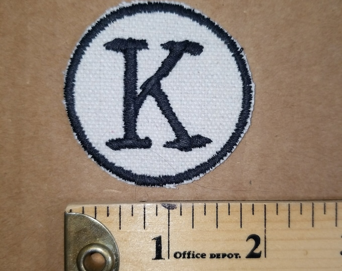 Embroidered Monogram K patch