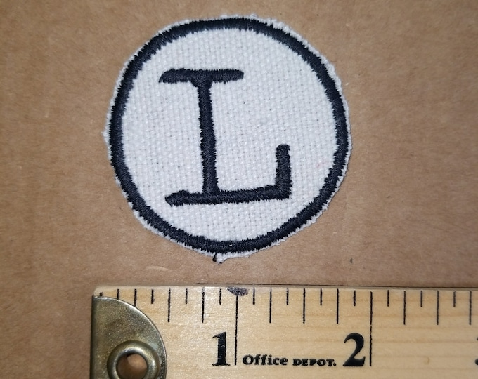 Embrodered Monogram L patch