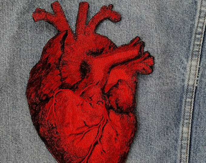 Embroidered Vintage Graphic Heart Jacket Iron On Patch