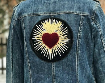 Velvet Heart Jacket Patch