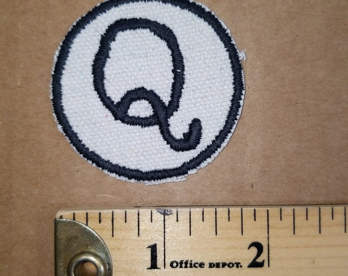 Embroidered Q Monogram Iron On Patch