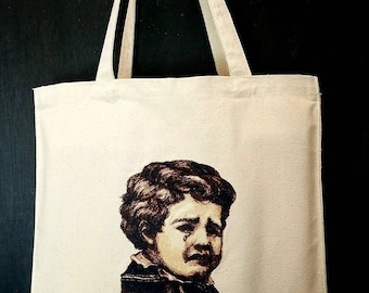 Retro Vintage Graphic Cry Handmade Modern Baby Tote by Authentic Embroidery
