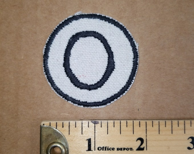 Embroidered O Monogram Iron On Patch