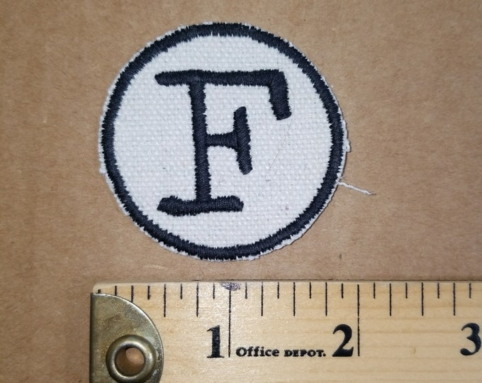 Embroidered Monogram F patch